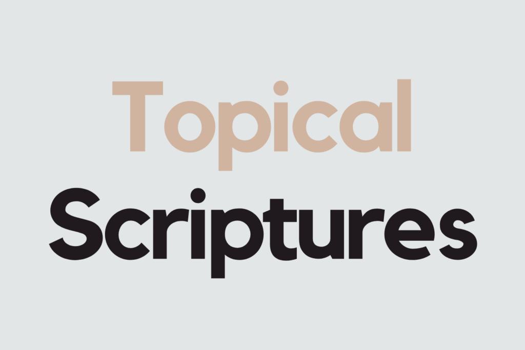 Topical Scripture